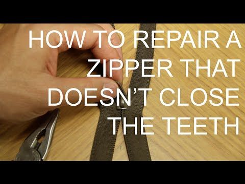 How to fix a zipper video | BGR