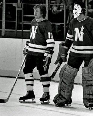 Glen Sather & Cesare Maniago 1975