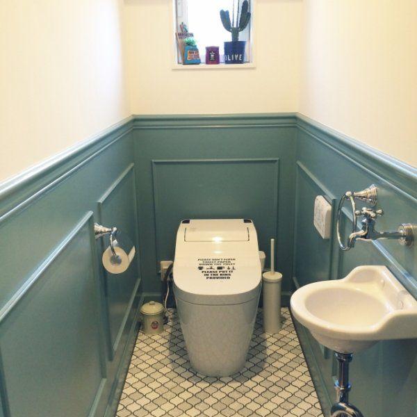 簡単DIY★壁紙だけでこんなに変わる!!トイレをお洒落にセルフリフォームしよう!   ギャザリー