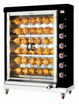 Κοτοπουλιέρα ήλεκτρική με 6 σούβλες για ολόκληρα κοτόπουλα.