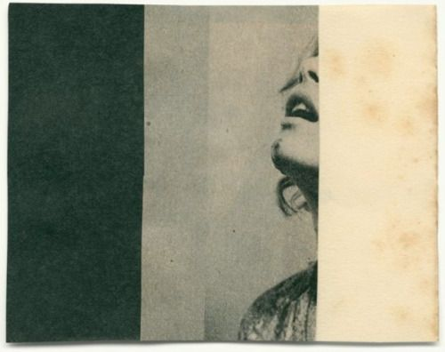 'Dark Series # 10' by Belgian artist Katrien De Blauwer. Collage. via Mi Puñado de Esplín