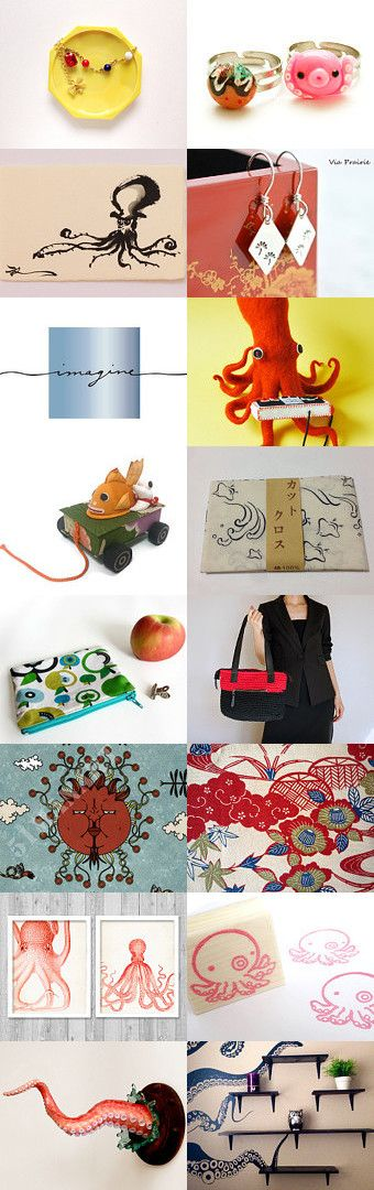 C is for cute octopus! by Nico on Etsy--Pinned with TreasuryPin.com