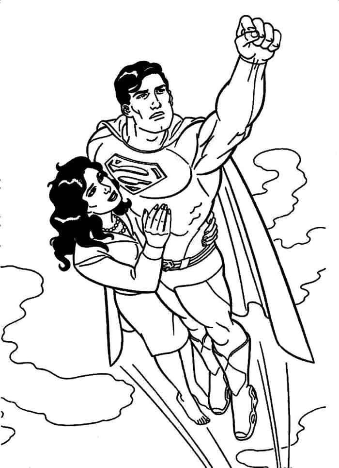 Superman And Supergirl Coloring Pages In 2020 Superman Coloring Pages Puppy Coloring Pages Zoo Coloring Pages