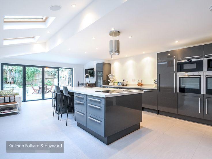 #grey #bifolddoor #kitchen #kitchenisland #kfh