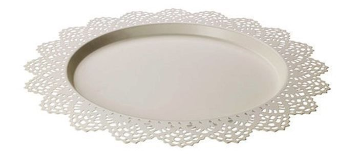 Lace Charger Plate White