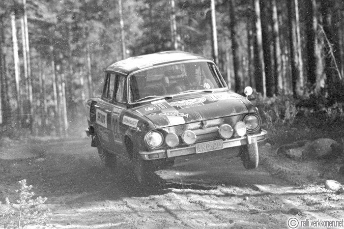 Jyväskylän Suurajot 1970 |  N:o 22, Birger Tötterman - Erik Rönnqvist, Skoda S 100, sijoitus yleiskilpailun 14.
