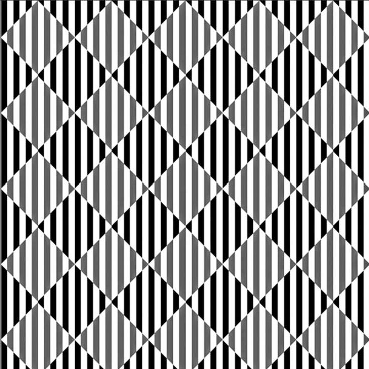 The Warping Cushion Effect is yet another optical illusion that proves how selected patterns are able to distort the reality we perceive. Just look at the diagonal lines below! Even though they are perfectly straight and parallel, as well as the rectangles they form intersecting, something obviously doesn't seem right. The warping effect that makes the lines misbehave prevents us from seeing the picture in its true nature. But what is responsible for such an amazing effect?