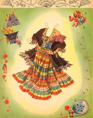 Freida Kahlo-esque.... Bonecas de Papel: Festa Gitana