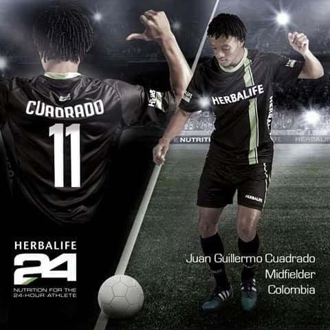 Nuevo integrante del Team Herbalife ! Juan Guillermo Cuadrado ! ;)