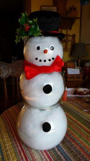 2063 best images about snowmen on pinterest snowman for Plastic fish bowls dollar tree