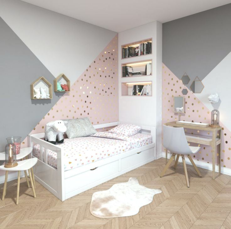 Cameretta per bambini moderna in legno beige bianco beige