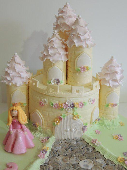 Princess Castle Cake - by ShereensCakes @ CakesDecor.com - cake decorating website
