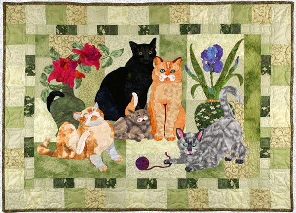House Cats Quilt By Maggie Walker Cat Quilts Pinterest