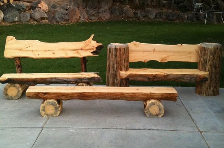 1000 Images About Log Benches On Pinterest Trees Out