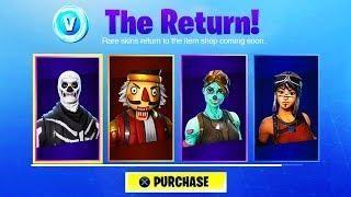 New Fortnite Skull Trooper Release Date Fortnite Christmas Skins