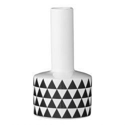 Bloomingville Vase schwarz weiß Triangles