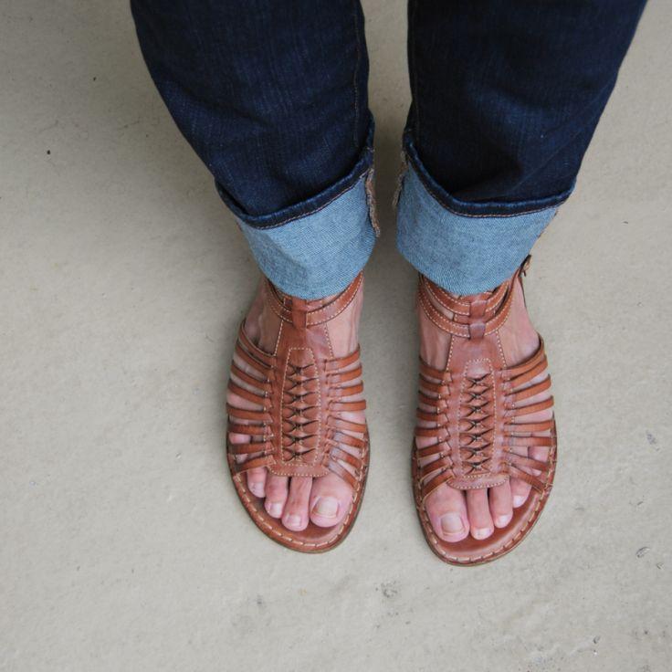 huarache style frye sandals