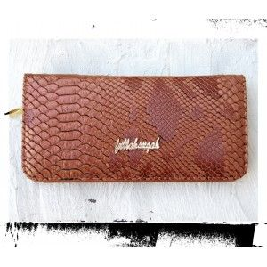 Snake Print Brown Fullah Sugah Wallet #leather #wallet
