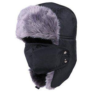 Chapka/ Bonnet de russie/ Chapeaux Imperméable Chaude Haut de Gamme -Hiver Cyclistes Ski Randonnée Montagne- Anti -Vent/Neige/Froid Avec…
