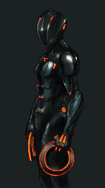 Rinzler can't you see he is tron look at the four dots on his chest people and if you don't get it watch the 1982 original tron