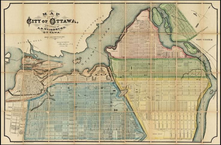 Map of the City of Ottawa, Published by A.S. Woodbrun. Ottawa. . . 1885