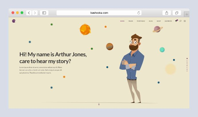 20 Portfolio WordPress Themes for Game UI Designer