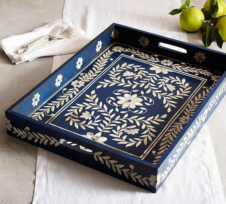 Marion Large Hand-Painted Tray
