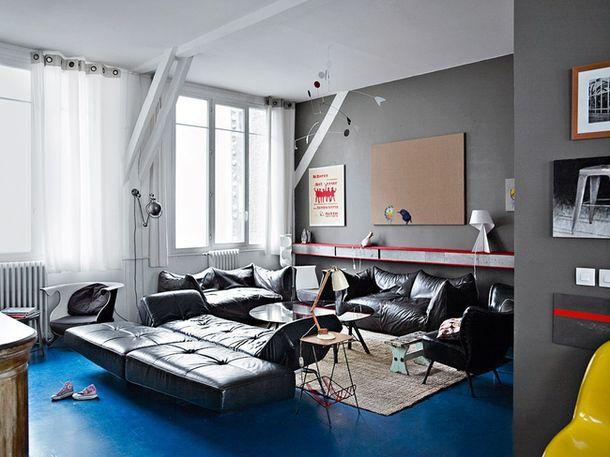 Лофт многодетной семьи в Париже, 200 м²