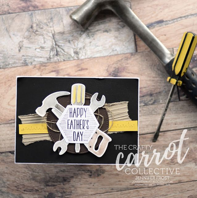 Nailed It, Father's Day Card, Stampin' Up!, Papercraft by Jennifer Frost