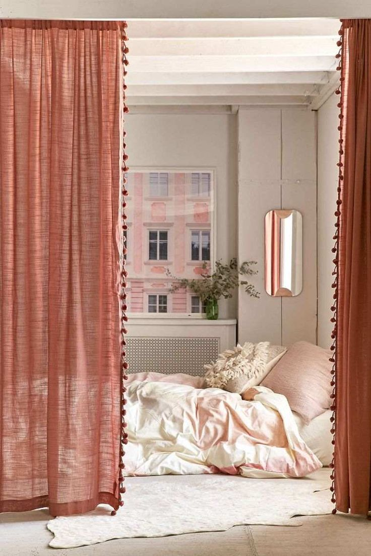 Exotic curtain for a boho chic, ethnic or natural decor
