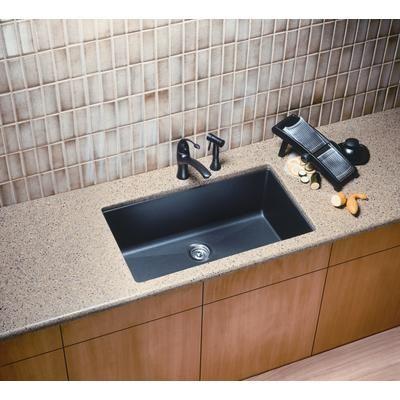 Blanco   Silgranit, Natural Granite Composite, Kitchen Sink, Undermount,  Anthracite   SOP1094