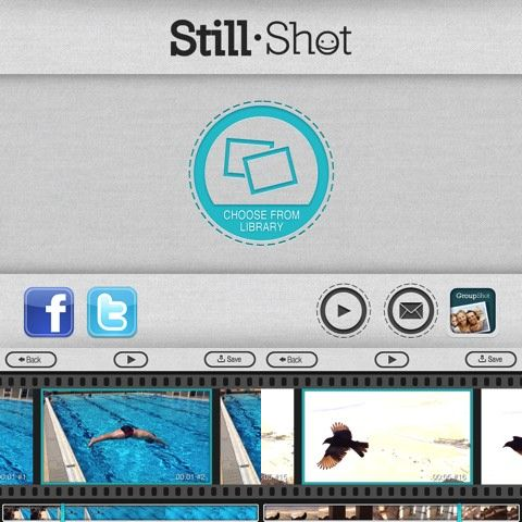 Ever accidentally record a video instead of taking a pic? The StillShot iPhone app extracts photos from your videos