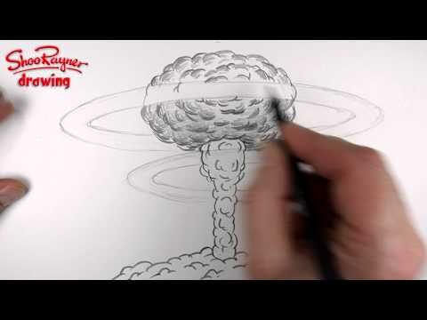 ▶ How to draw a Nuclear Explosion - Mushroom Cloud - YouTube