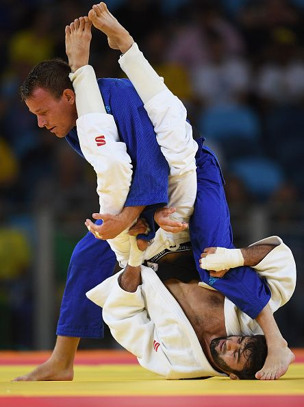 #RIO2016 Best of Day 1 - Beslan Mudranov of Russia competes against Jeroen Mooren of the Netherlands in the Men's 60 kg Judo on Day 1 of the Rio 2016 Olympic Games at Carioca...