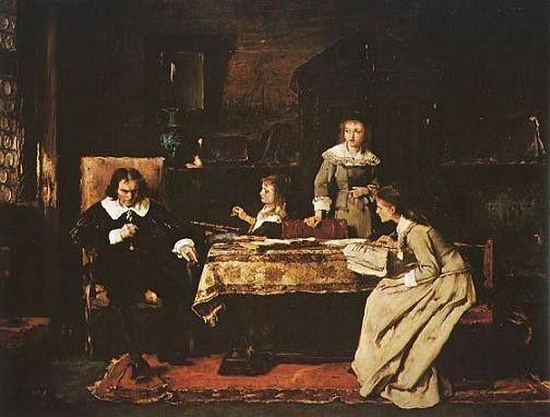 Munkácsy Mihály (1844-1900) - A vak Milton műveit diktálja leányainak