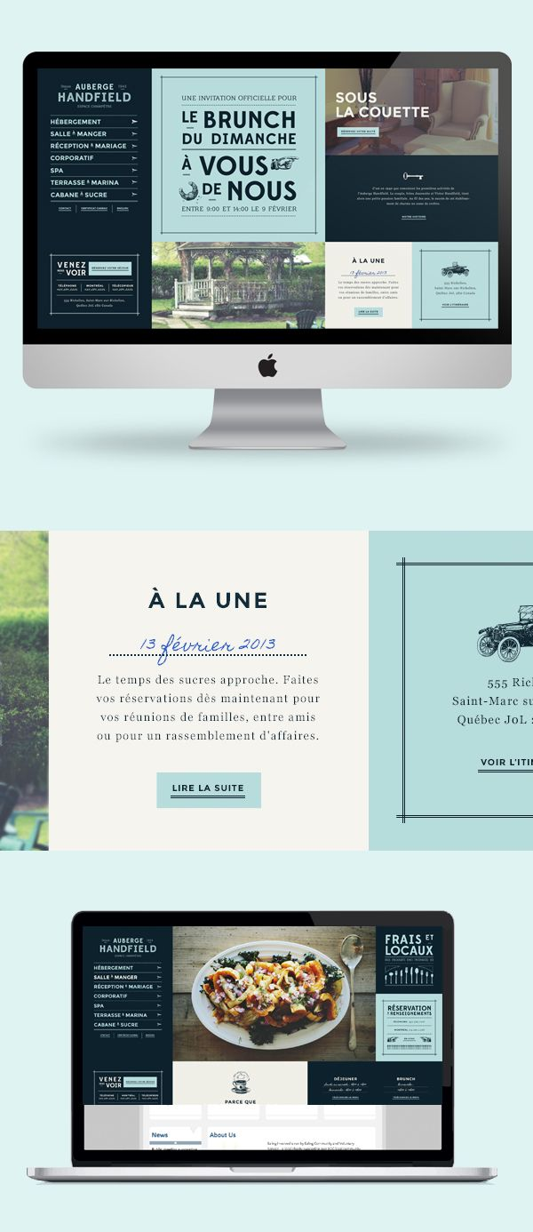 Auberge Handfield Website #uidesign #uxdesign #mobileappui #UIUX#webdesign #color #photography #typography #ResponsiveDesign #Web #UI #UX #WordPress #Resposive Design #Website #Graphics