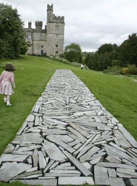 Richard Long... could see doing this with broken concrete as well