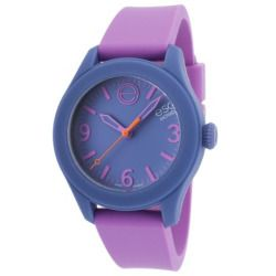 Esq Movado 7101454 Esq One Lavender Silicone Light Blue Dial Watch