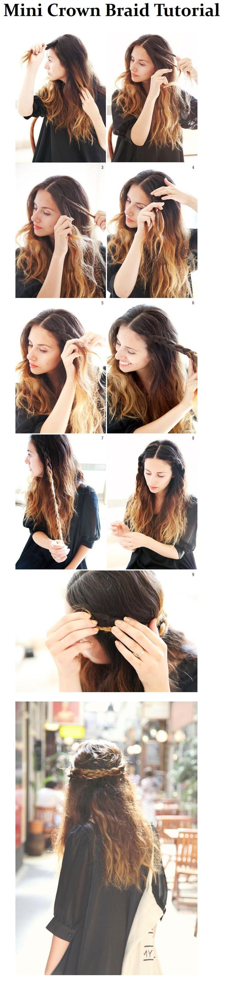 Semirecogido con trenzas para peinado diario