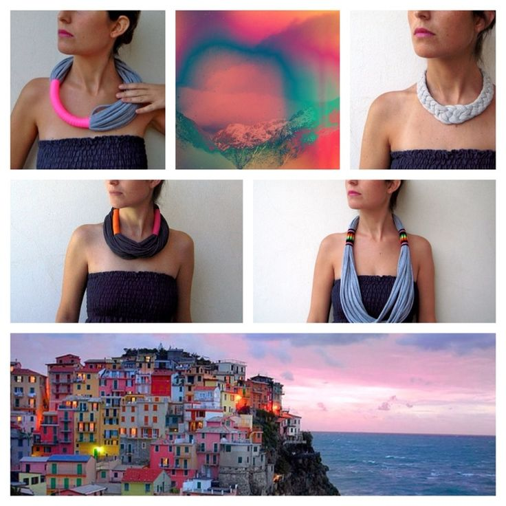 A Chilean designer takes on a handmade jersey and vintage fabric loop necklace. Fabric is unbelievably luxurious and cozy. You can wear it in so many ways, and really adds a stylish pop of color to any of your outfits. It's very well-made, soft and light.