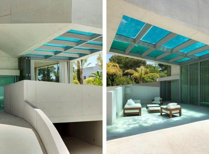 Pool, Beautiful Archtiecture Design To Built Modern Swimming Pool Using  Partial Glass Panels Above The