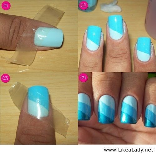 25 gorgeous scotch tape nails ideas on pinterest diy nails nail art idea using scotch tape finally something that looks easy enough for me to prinsesfo Image collections