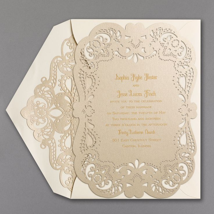 Fancy That   Invitation With Laser Liner U003e Wedding Invitations | Carlson  Craft Wedding U0026 Stationery