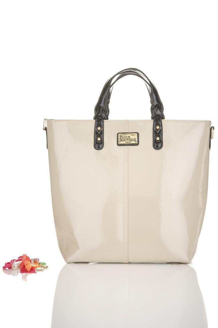 NEW AW12 Cream with Black trim Natasha Bag *totally new style bag*