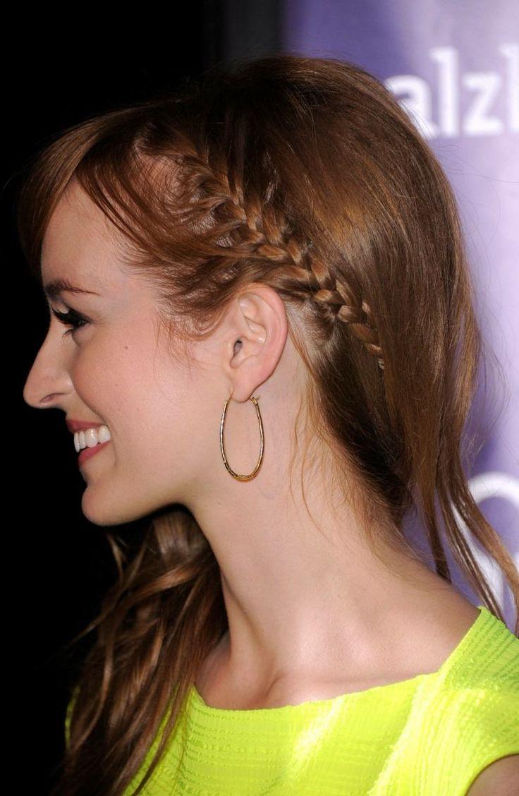 coiffures d'été avec frange tressée