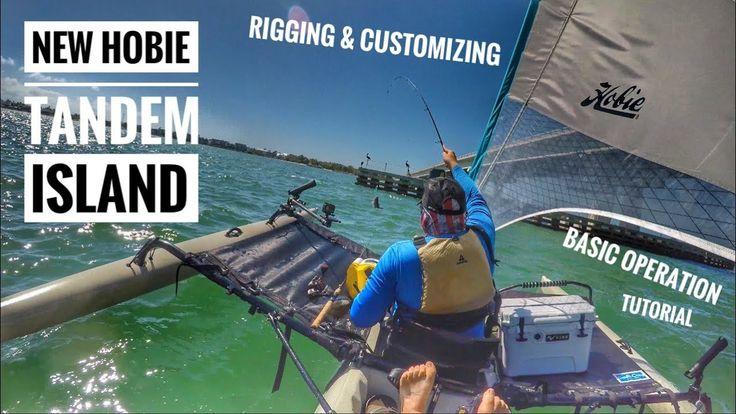 NEW Hobie Tandem Island: Sail Rigging, Adding Rod Holders, & Instruction...