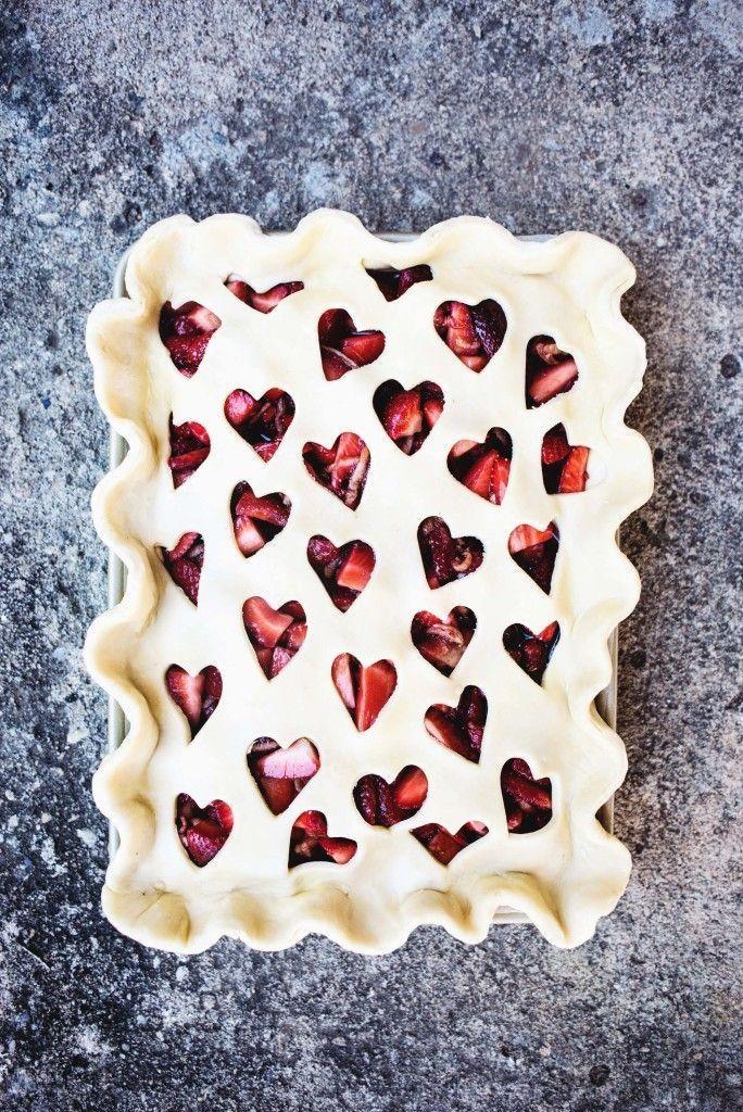 Strawberry Balsamic Slab Pie (butter and brioche)