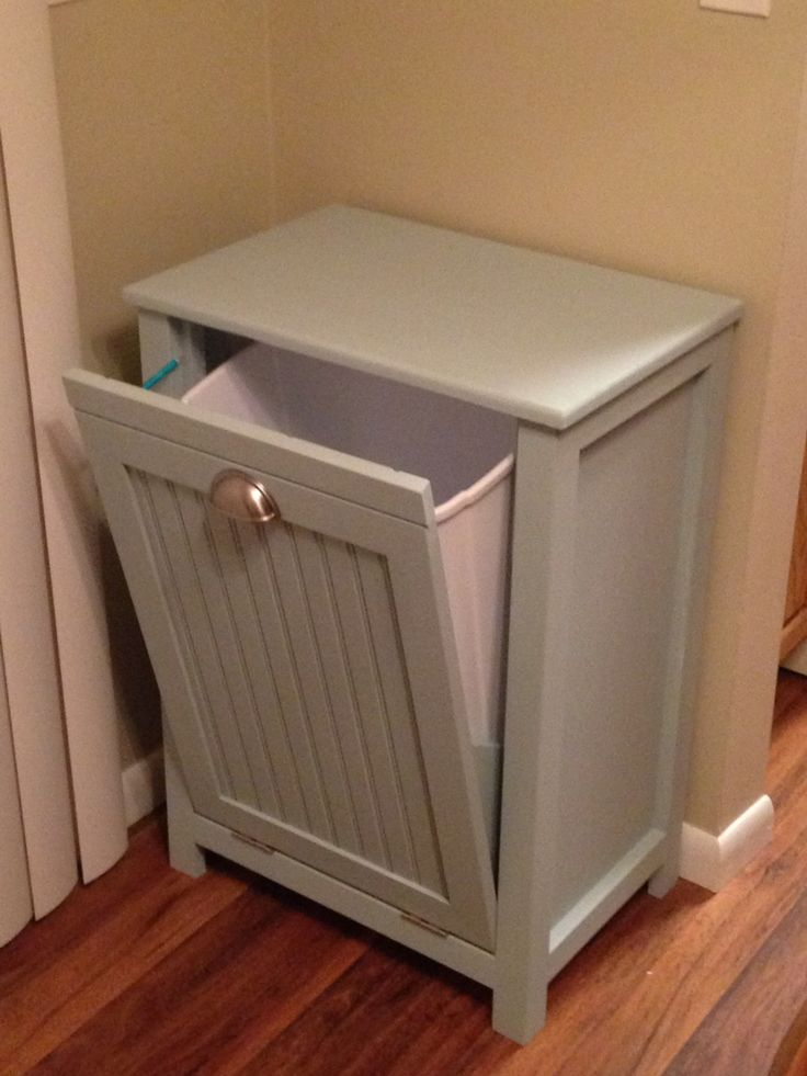 Trash can cabinet my projects pinterest trash can What can i put on my sideboard