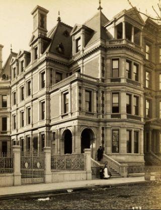 vanderbilt brownstone | The Gilded Age Era: The Mrs. Charles B. Alexander Mansion New York ...