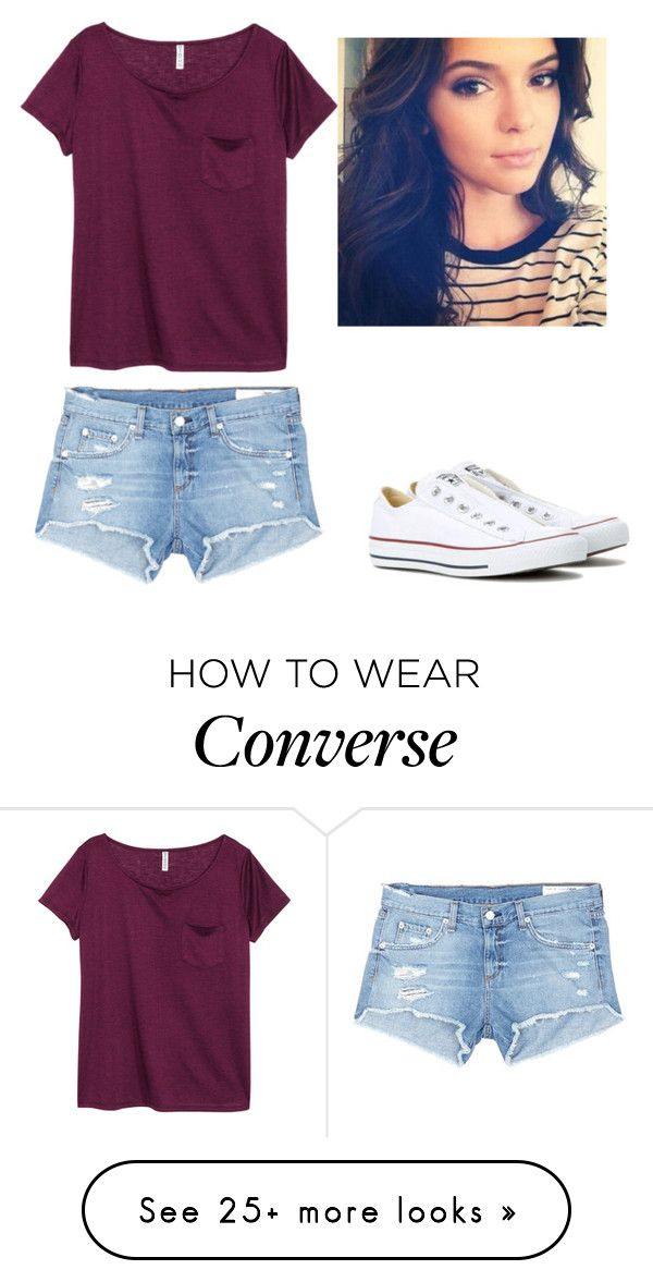 """""""Converse"""" by michaelawilkie1 on Polyvore featuring H&M, Converse and rag & bone/JEAN"""